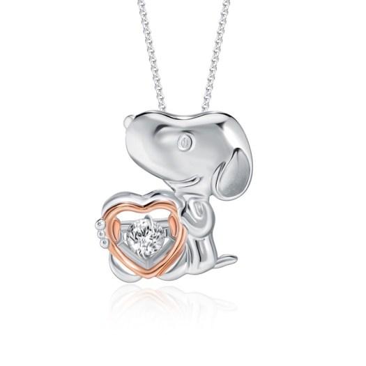 Snoopy Full of Love Diamond Pendant (S$499)