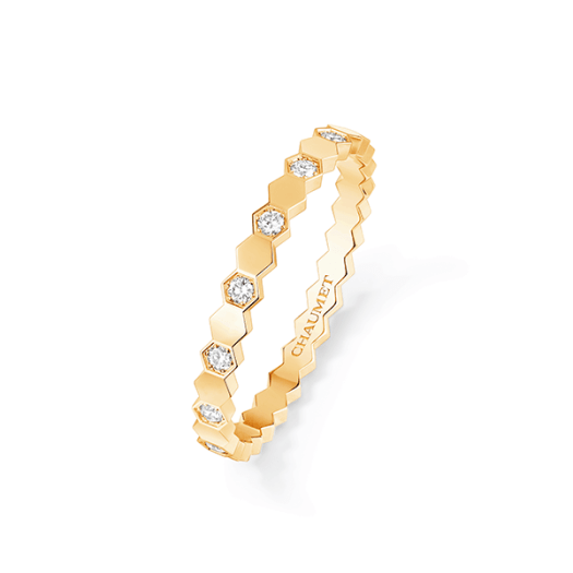 Chaumet Bee My Love Ring in 18-carat Yellow Gold Paved with Brilliant-cut Diamonds ($3200)