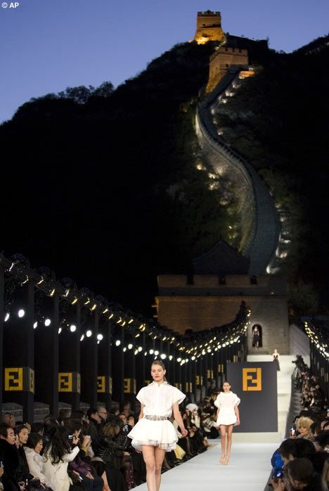 Fendi Spring/Summer 2008 At The Great Wall Of China
