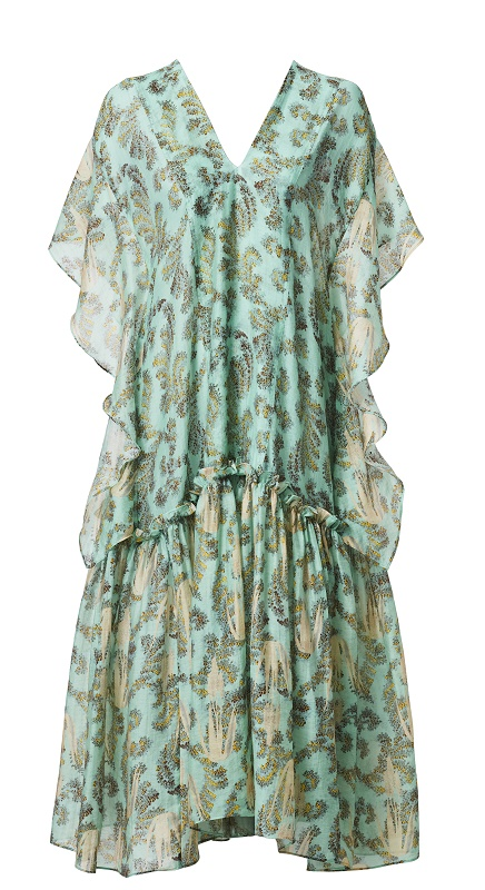 Green Kaftkan Dress,$249