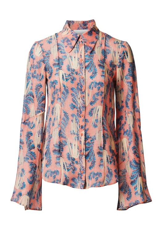 Pink Printed Blouse, $179