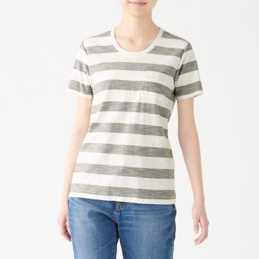 Ladies' Organic Cotton Uneven Yarn Short Sleeve T-shirt, Less 10% (U.P. $19.90)