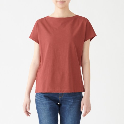 Ladies' Organic Cotton Uneven Yarn French Sleeve T-shirt, Less 10% (U.P. $19.90)