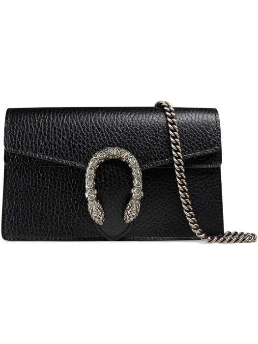 GUCCI Dionysus leather super mini bag, $1,140