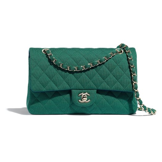 11.12 bag in green quilted jersey