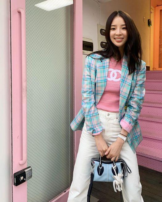 Korean Model Irene Kim with Tod's X Mr. Bags Unicorn D-Styling Bag