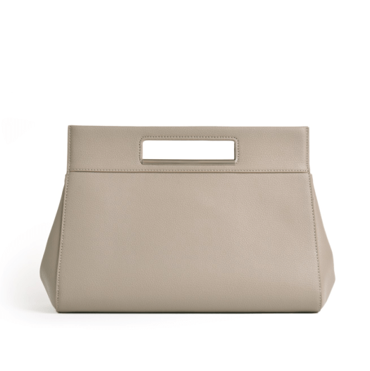 The Essential Tent Clutch in Grey, $229
