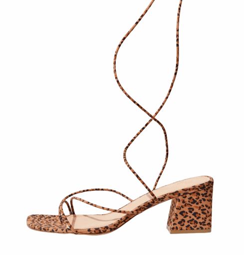 URBAN OUTFITTERS Alexa Leopard Strappy Sandal, $75.00