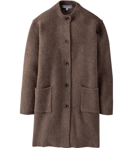 Mini gauge knitteed coat, $79.90