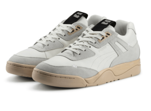 PUMA x RHUDE Palace Guard Sneakers in Star White-WINDCHIME, $209