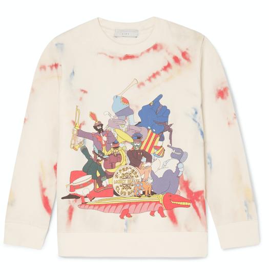 Tye & Dye Cotton Sweatshirt All Together Now in Ivory, $115