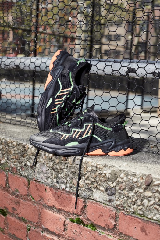 OZWEEGO Shoes. Colour: Core Black / Solar Green / Hi-Res Coral. $160