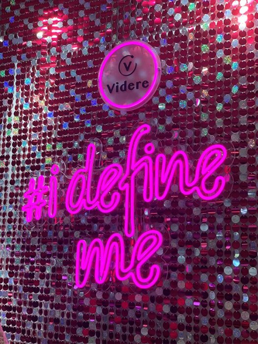 Take a snap with you and your friends here at the #idefineme wall located at the entrance of the store