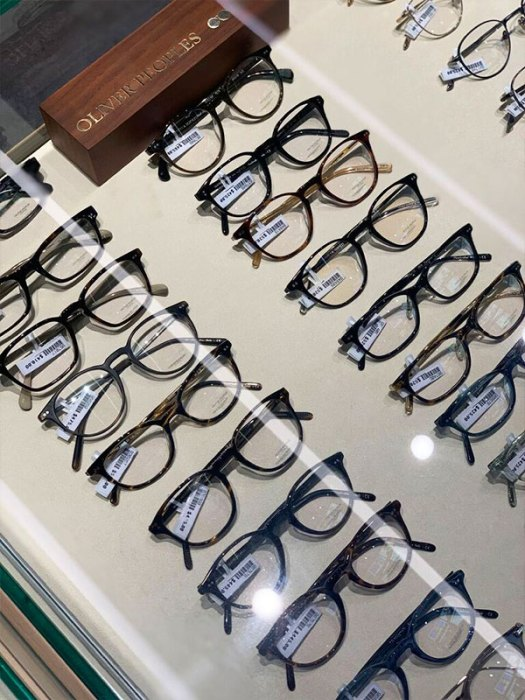 Choose from an extensive range of eyewear from brands like Oliver Peoples