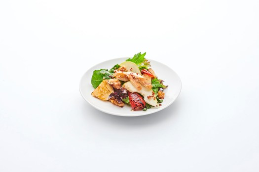 Cold Deli: Smoked Chicken, Roasted Celeriac & Pear Salad with Balsamic Sesame Dressing. Ala carte: $2.80