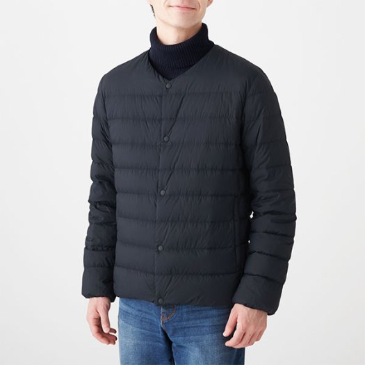 Lightweight Australian Down Pocketable Collarless Jacket. Available in 3 colours. Less 10% (U.P. $99)