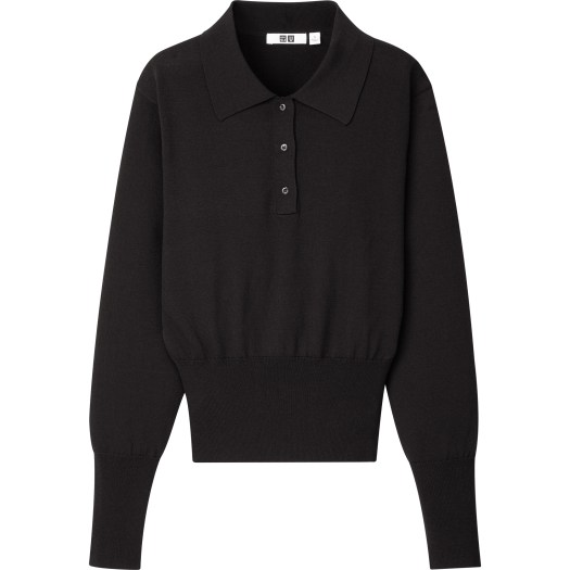 Knitted Polo Long Sleeve Sweater, $49.90
