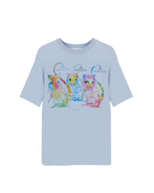 Chloé Cotton Jersey Oversized Lunar Year Printed T-shirt $653