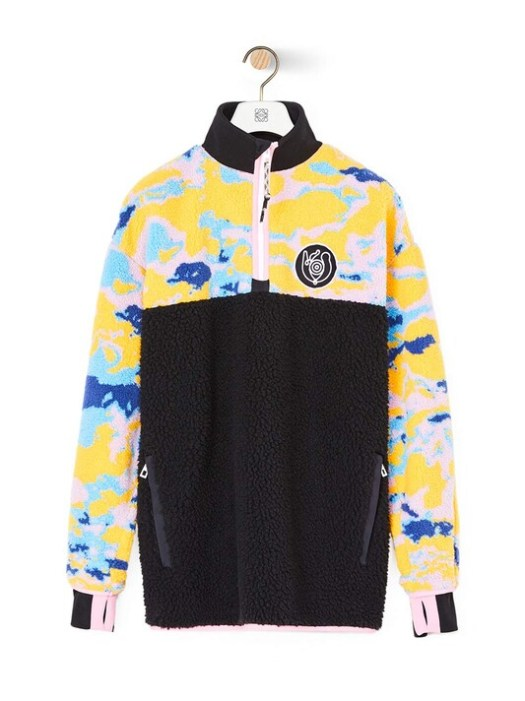 Eye/LOEWE/Nature Eln Fleece Zip Sweater Multicolour $1,990