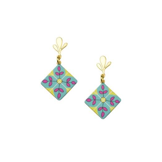 Peranakan Tile Earrings $89.90
