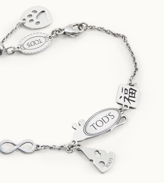 TOD's Rat Cheese Chain Bracelet Silver