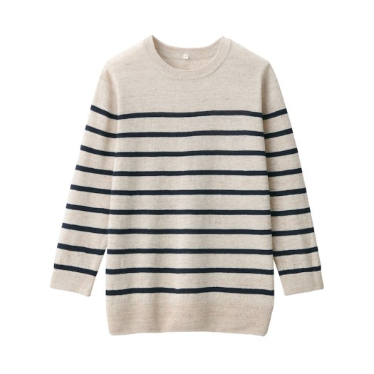 UV Protection French Linen Crew Neck Sweater $49