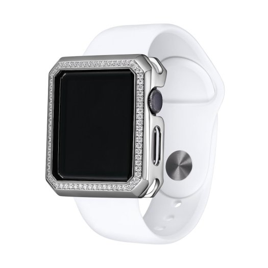 SkyB by Rachel & Victoria Apple Watch Case in Deco Halo Silver $129