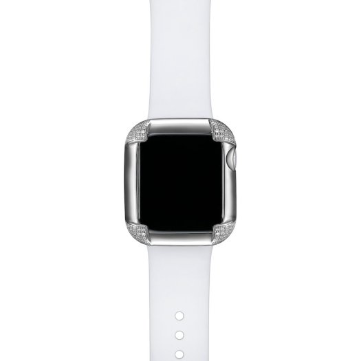 SkyB by Rachel & Victoria Apple Watch Case in Pavé Corners Silver $169