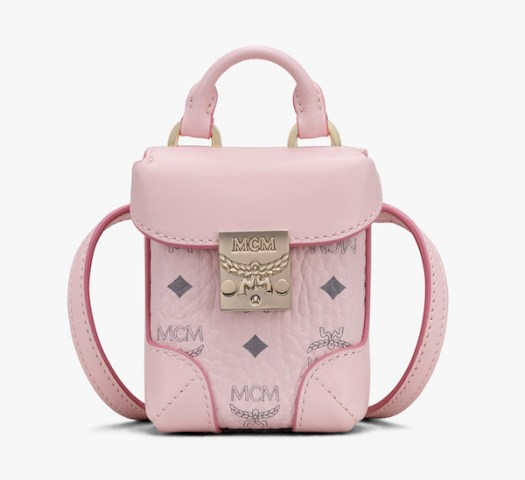MCM Soft Berlin Airpod Case in Powder Pink $620