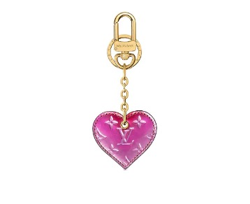 Louis Vuitton Valentine's Day Capsule Heart Bag Charm & Key Holder $455