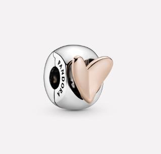 Pandora Freehand Heart Clip Charm $69