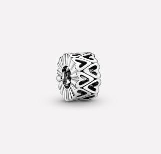 Pandora Openwork Freehand Heart Spacer Charm $49