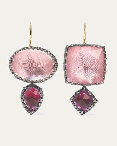Larkspur & Hawk Sadie Rhodium-Dipped Rose Quartz Earrings $2,422.54