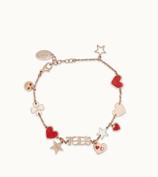 TOD'S Happy Valentine Chain Bracelet