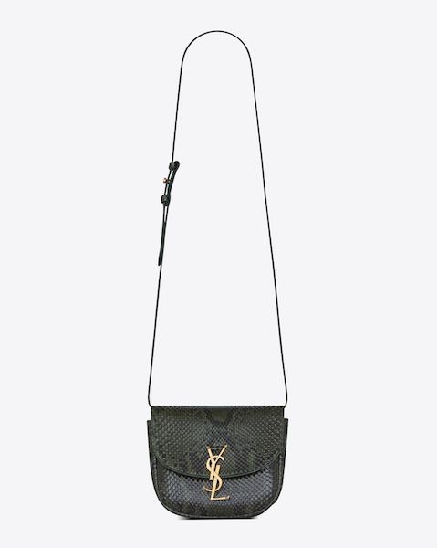 Saint Laurent Kaia Small Satchel in Green Python $2,890