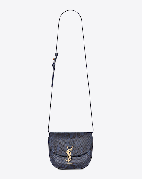 Saint Laurent Kaia Small Satchel in Navy Python $2,890