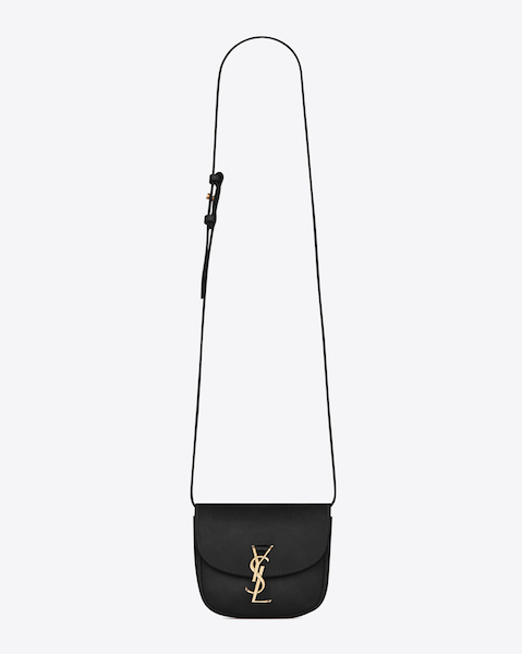 Saint Laurent Kaia Mini Satchel in Black Black Matte Lizard Skin $2,080