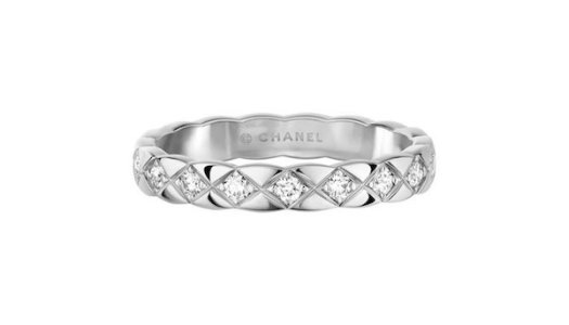CHANEL COCO CRUSH Mini Ring in 18K White Gold with Diamonds $4,750