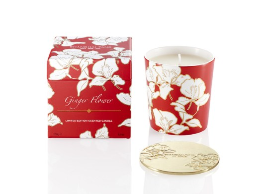 Ginger Flower Bone China Scented Candle with Lid, $205. Available at Shanghai Tang.