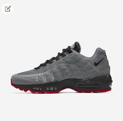 Nike Custom Men's Air Max 95 By You in Multi-Colour $259