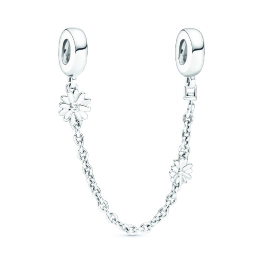 Daisy Flower Safety Chain Charm, $69