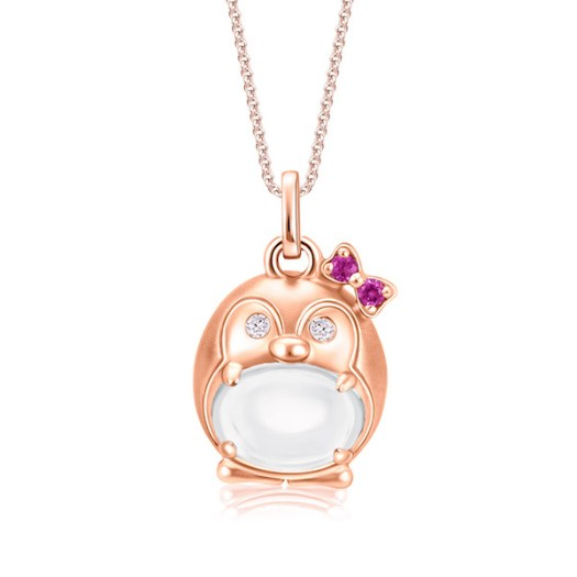SK Jewellery Lovable Penguin Cloud Gem Pendant, $398