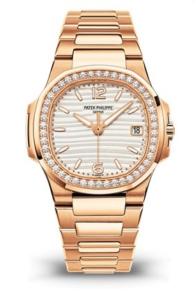 Patek Philippe Nautilus 7010/1R Rose Gold and Diamond Watch, $59,500