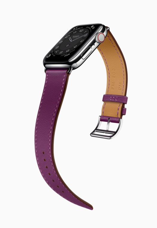 Apple Watch Series 6 Hermès Stainless Steel Silver Single Tour in Anemone