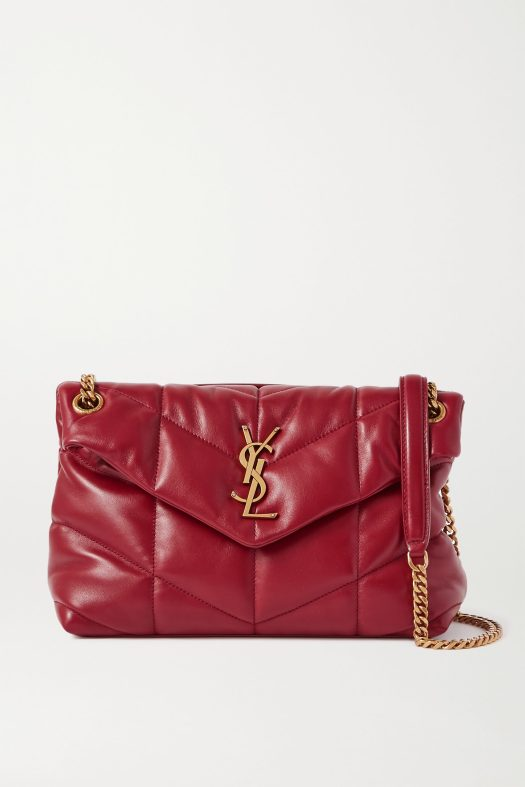 SAINT LAURENT Loulou Puffer small quilted leather shoulder bag, US$2,250