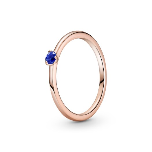 Stellar Blue Solitaire Ring ($69)