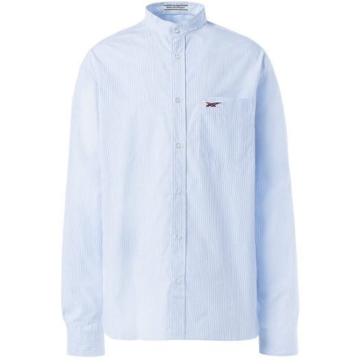 Men's Cotton Shirt in Pale Blue