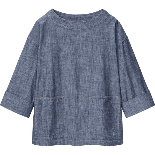 Women's JW Anderson Cotton Relaxed Pullover 3/4 Sleeve Shirt, $39.90