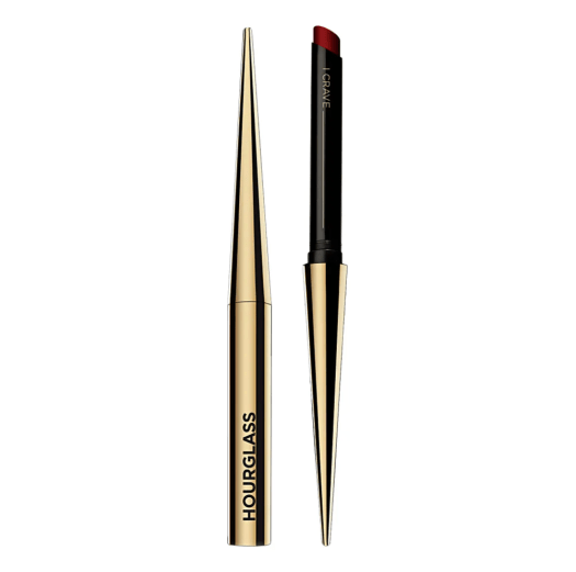 HOURGLASS CONFESSION™ ULTRA SLIM HIGH INTENSITY REFILLABLE LIPSTICK | Chic packaging seems to be the trend among refillable makeup products, and this Hourglass lipstick is no different, especially with its sleek gold applicator. Within, you'll find a creamy and saturated formula that, when combined with the slim case, is able to create ultra-precise, defined lips.