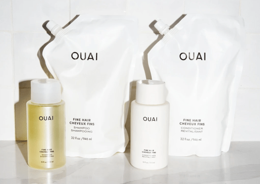 OUAI THICK HAIR SHAMPOO AND CONDITIONER | Made for thick hair, the deeply nourishing formula is able to strengthen and hydrate thick hair with a rich dose of keratin, smoothing marshmallow root, shea butter, and avocado oil, while also calming frizz and dry, split ends.
